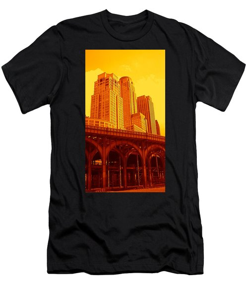 Upper West Side And Hudson River Manhattan Men's T-Shirt (Athletic Fit)