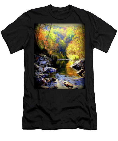 Upstream Men's T-Shirt (Slim Fit) by Karen Wiles