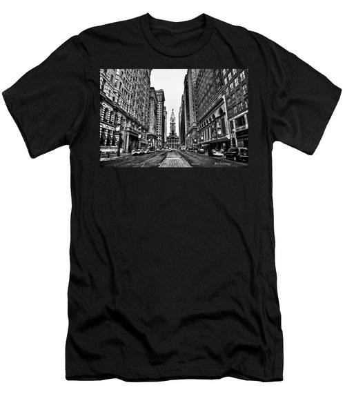 Urban Canyon - Philadelphia City Hall Men's T-Shirt (Athletic Fit)