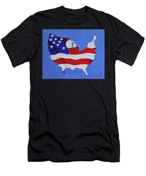 Us Flag Men's T-Shirt (Athletic Fit)