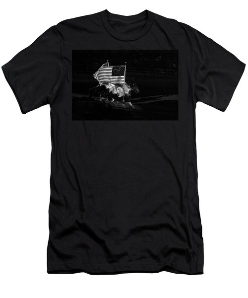 Men's T-Shirt (Slim Fit) featuring the photograph U.s. Flag Western by Ron White