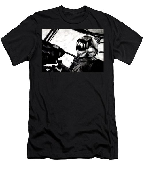 U.s. Marines Helicopter Pilot Men's T-Shirt (Athletic Fit)