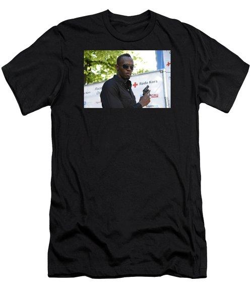 Usain Bolt - The Legend 4 Men's T-Shirt (Athletic Fit)