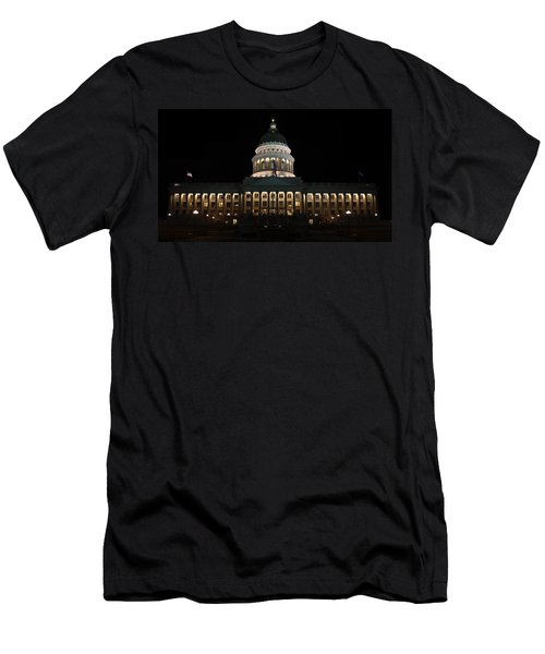 Utah State Capitol Front Men's T-Shirt (Athletic Fit)