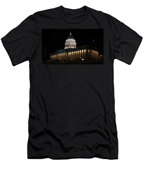 Men's T-Shirt (Slim Fit) featuring the photograph Utah State Capitol East by David Andersen