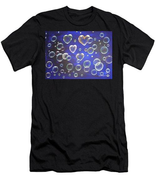 Valentine Bubbles Men's T-Shirt (Athletic Fit)