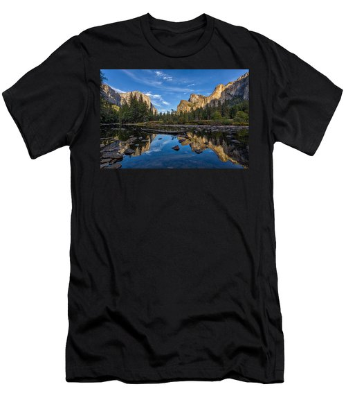Valley View I Men's T-Shirt (Slim Fit) by Peter Tellone
