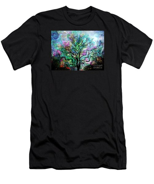 Van Gogh's Aurora Borealis Men's T-Shirt (Slim Fit) by Barbara Chichester