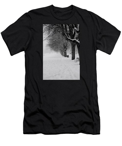 Vancouver Winter Trees Men's T-Shirt (Athletic Fit)