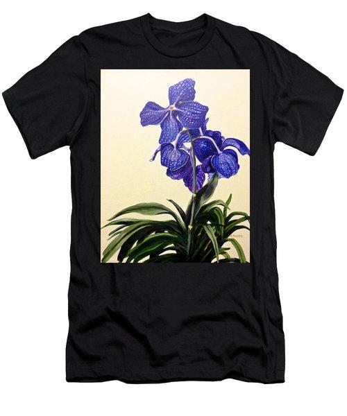 Vanda Sausai Blue Orchid Men's T-Shirt (Athletic Fit)