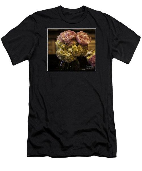Vase Of Flowers Men's T-Shirt (Slim Fit) by Madeline Ellis