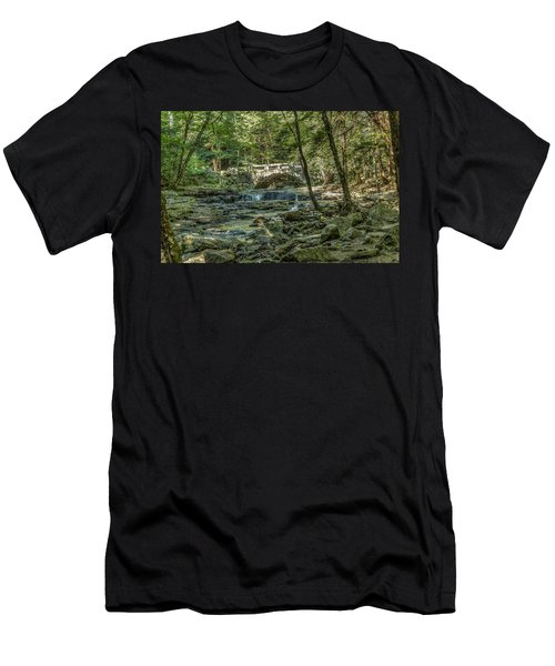 Men's T-Shirt (Slim Fit) featuring the photograph Vaughan Woods Bridge by Jane Luxton