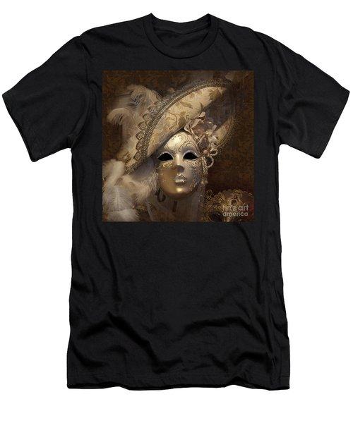 Venetian Face Mask F Men's T-Shirt (Athletic Fit)