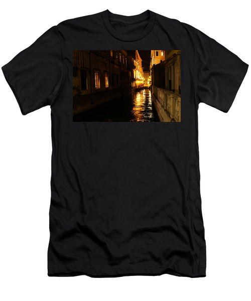 Men's T-Shirt (Slim Fit) featuring the photograph Venetian Golden Glow by Georgia Mizuleva