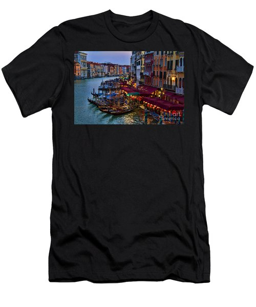 Venetian Grand Canal At Dusk Men's T-Shirt (Athletic Fit)