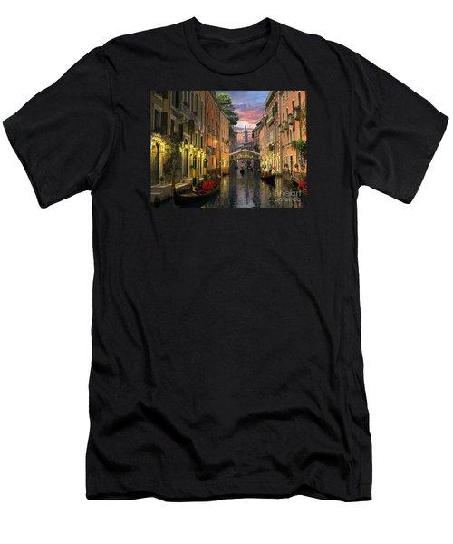 Venice At Dusk Men's T-Shirt (Slim Fit) by Dominic Davison