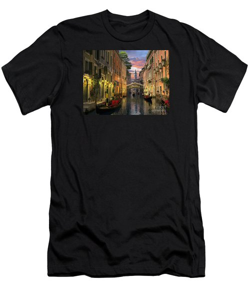 Venice At Dusk Men's T-Shirt (Athletic Fit)