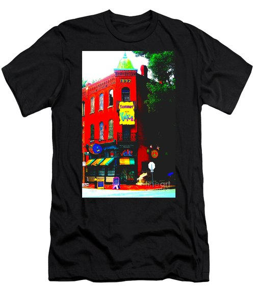 Venice Cafe' Painted And Edited Men's T-Shirt (Athletic Fit)