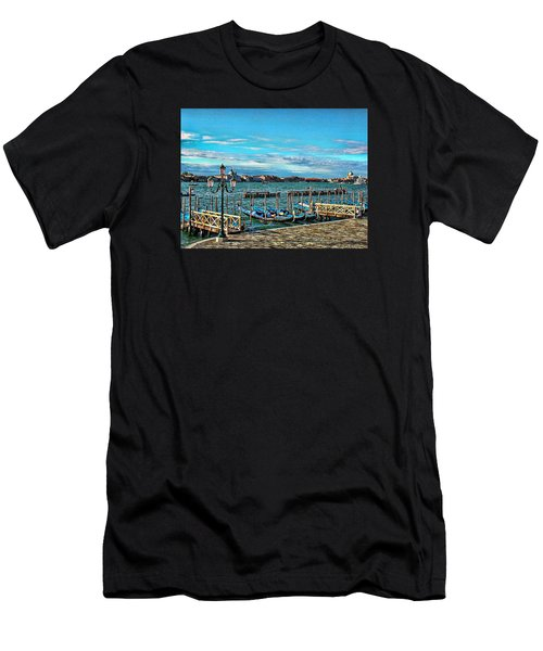 Venice Gondolas On The Grand Canal Men's T-Shirt (Athletic Fit)