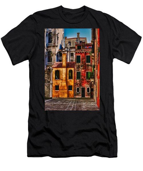 Men's T-Shirt (Slim Fit) featuring the photograph Venice Homes by Jerry Fornarotto