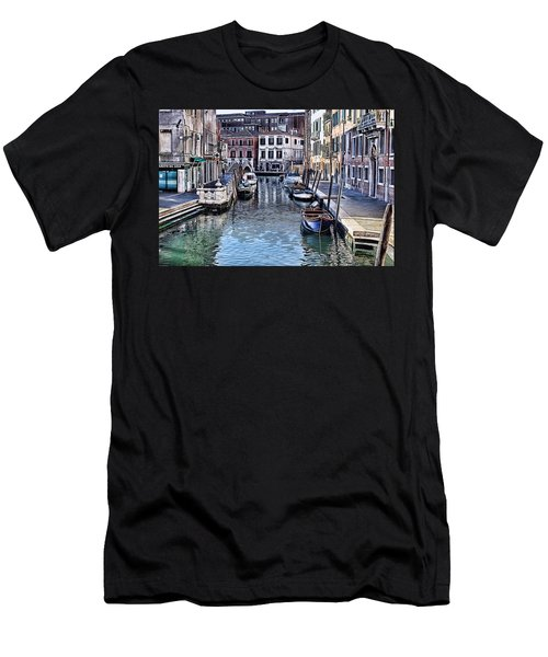 Venice Italy Iv Men's T-Shirt (Slim Fit) by Tom Prendergast