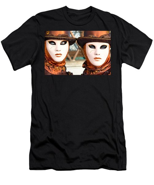 Venice Masks - Carnival. Men's T-Shirt (Slim Fit) by Luciano Mortula