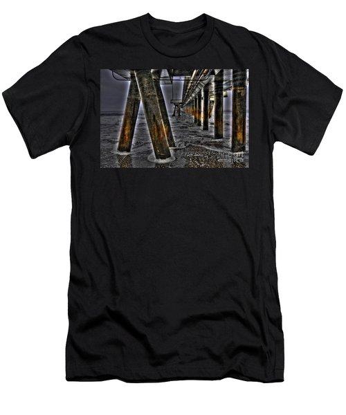 Venice Pier Darkly Men's T-Shirt (Athletic Fit)