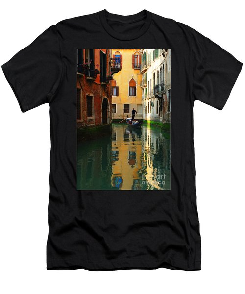 Venice Reflections Men's T-Shirt (Slim Fit) by Bob Christopher