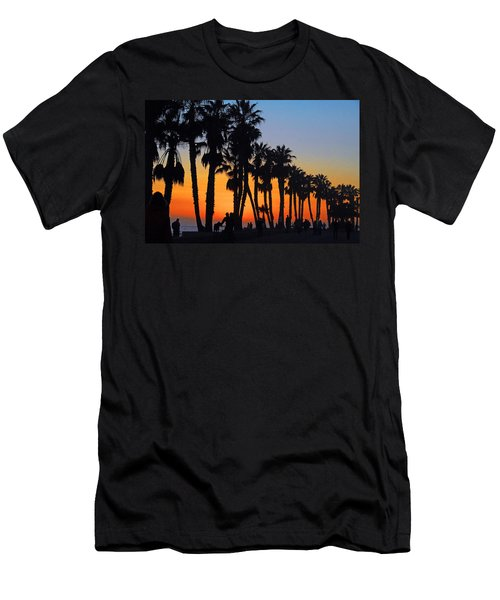 Ventura Boardwalk Silhouettes Men's T-Shirt (Slim Fit) by Lynn Bauer