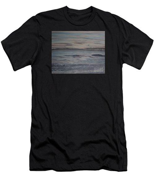 Ventura Pier High Surf Men's T-Shirt (Athletic Fit)