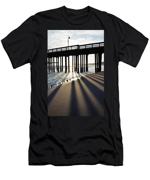 Men's T-Shirt (Slim Fit) featuring the photograph Ventura Pier Shadows by Kyle Hanson