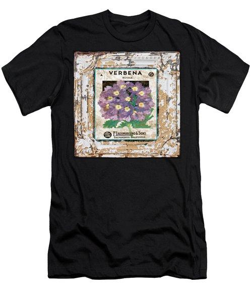 Verbena On Vintage Tin Men's T-Shirt (Athletic Fit)