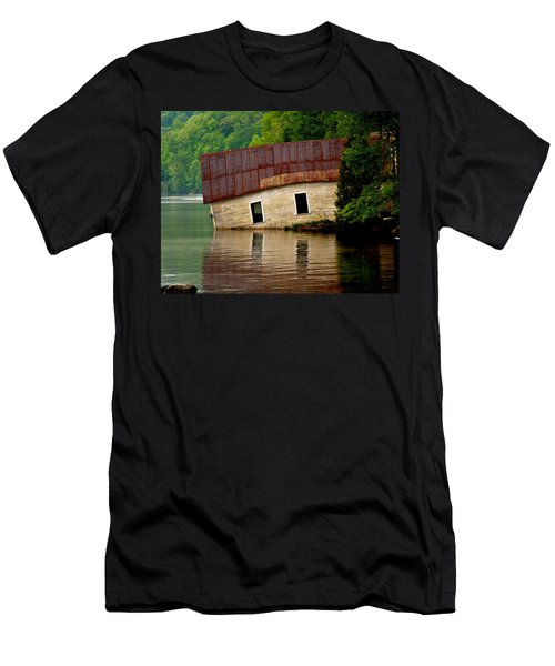 Men's T-Shirt (Slim Fit) featuring the photograph Vermont Boathouse by John Haldane