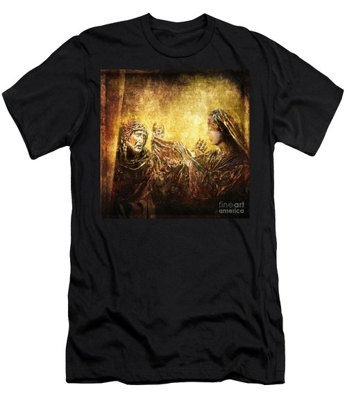 Veronica Wipes His Face Via Dolorosa 6 Men's T-Shirt (Athletic Fit)