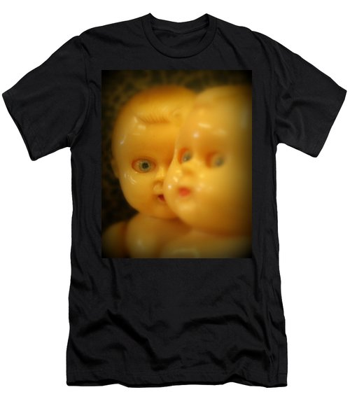 Men's T-Shirt (Slim Fit) featuring the photograph Very Scary Doll by Lynn Sprowl