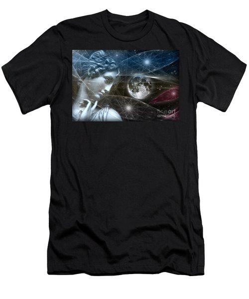 Men's T-Shirt (Slim Fit) featuring the digital art Vestal Moon by Rosa Cobos