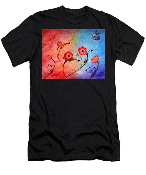 Vibrant Poppies Men's T-Shirt (Athletic Fit)
