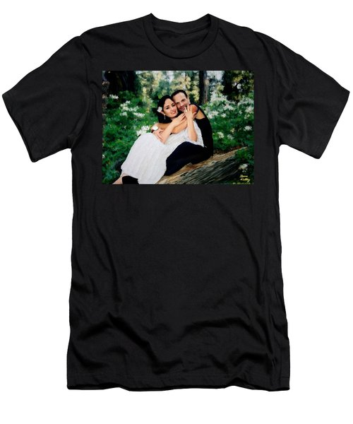 Victoria And Her Man Of God Men's T-Shirt (Athletic Fit)
