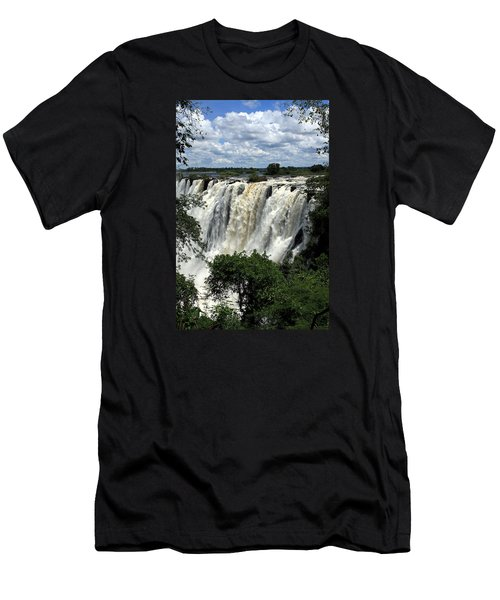 Victoria Falls On The Zambezi River Men's T-Shirt (Athletic Fit)
