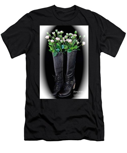 Victorian Black Boots Men's T-Shirt (Athletic Fit)