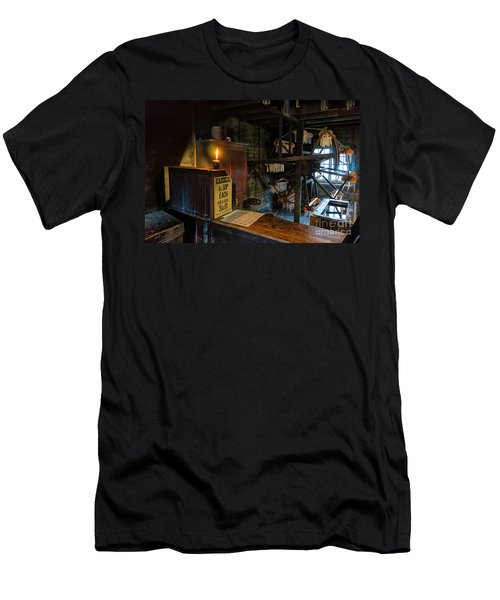 Victorian Candle Factory Men's T-Shirt (Slim Fit) by Adrian Evans