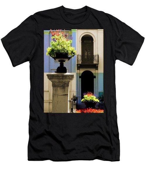 Victorian House Flowers Men's T-Shirt (Athletic Fit)
