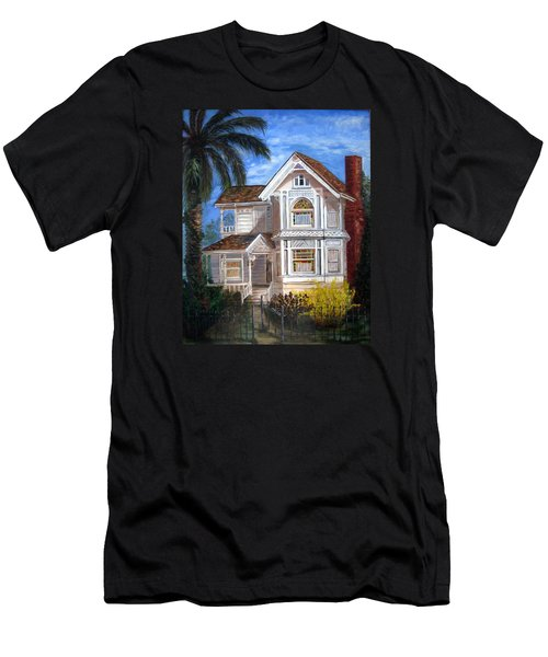 Men's T-Shirt (Slim Fit) featuring the painting Victorian House by LaVonne Hand