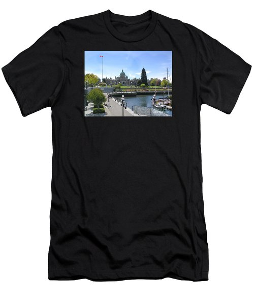 Victoria's Parliament Buildings Men's T-Shirt (Athletic Fit)