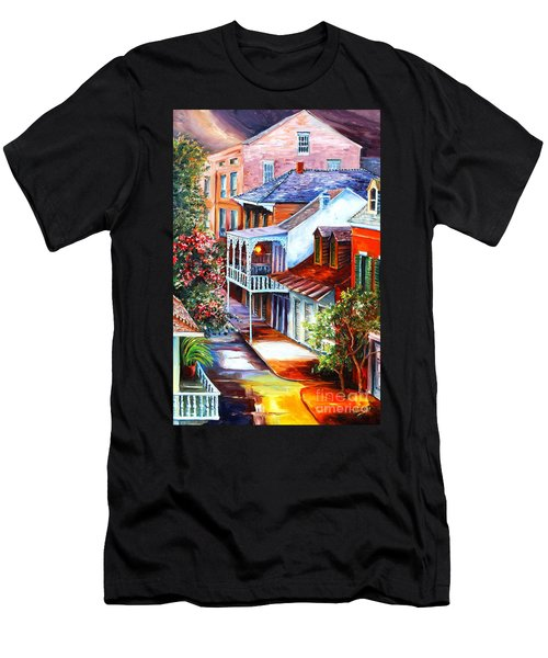 View From A Bourbon Street Balcony Men's T-Shirt (Athletic Fit)