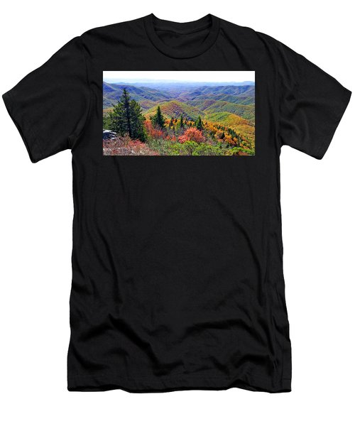 View From Devil's Courthouse Rock Men's T-Shirt (Athletic Fit)