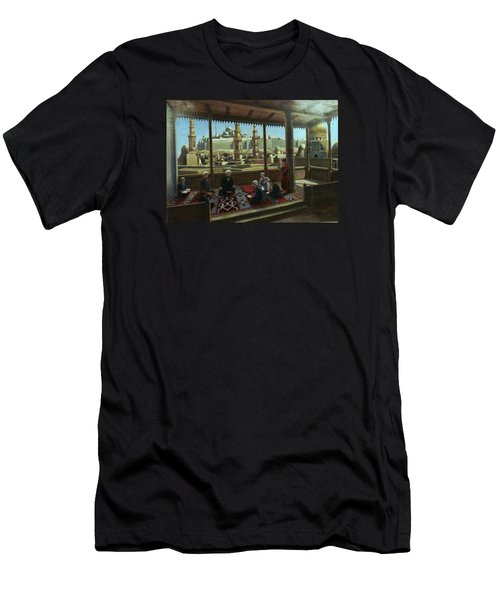 Men's T-Shirt (Slim Fit) featuring the painting View From Egypt by Laila Awad Jamaleldin