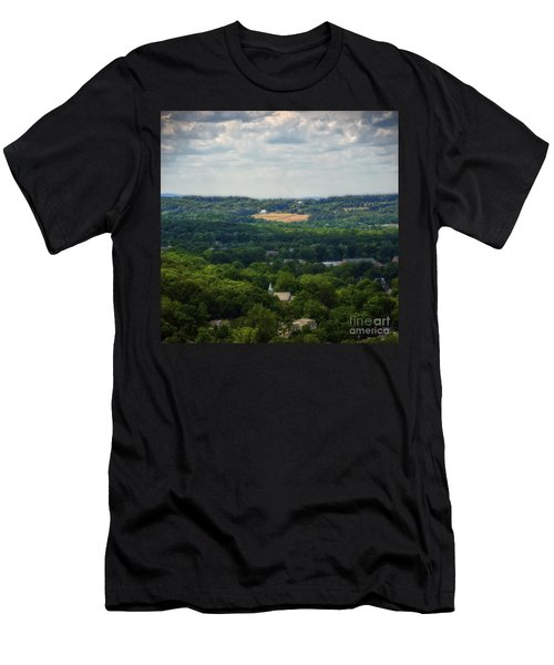 Men's T-Shirt (Slim Fit) featuring the photograph View From Goat Hill by Debra Fedchin