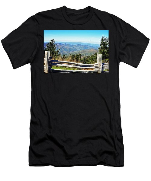 View From Mt. Mitchell Summit Men's T-Shirt (Slim Fit) by Lydia Holly