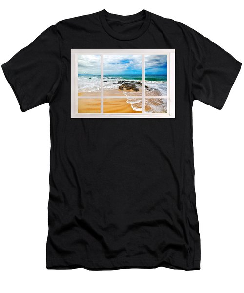 View From My Beach House Window Men's T-Shirt (Athletic Fit)